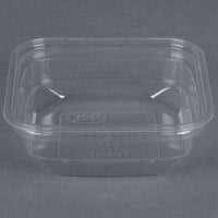 D&W Fine Pack SD8N FreshServe 8 oz. Square PLA Biodegradable / Compostable Plastic Clear Deli Container - 500 / Case