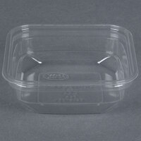 D&W Fine Pack SD8N FreshServe 8 oz. Square PLA Biodegradable / Compostable Plastic Clear Deli Container - 500/Case