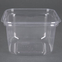 D&W Fine Pack SD16N FreshServe 16 oz. Square PLA Biodegradable / Compostable Plastic Clear Deli Container - 500 / Case