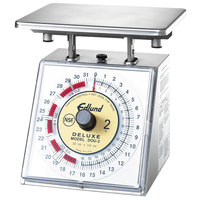 Edlund DOU-2 Deluxe 32 oz. Heavy-Duty Over / Under Portion Scale with 7 inch x 8 3/4 inch Platform