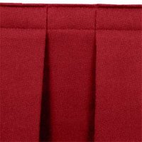 National Public Seating SB16-96 Burgundy Box Stage Skirt for 16 inch Stage - 96 inch Long