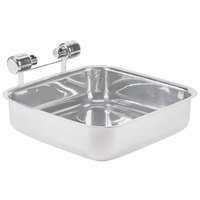 Vollrath 46116-1 Replacement Stainless Steel Base for 6 qt. Square Intrigue Induction Chafers