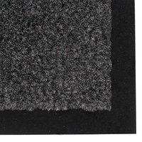 Teknor Apex NoTrax T37 Atlantic Olefin 434-327 3' x 60' Gunmetal Roll Carpet Entrance Floor Mat - 3/8 inch Thick