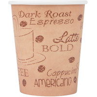 Choice 8 oz. Poly Paper Hot Cup with Cafe Design - 50/Pack