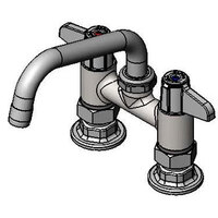 Equip by T&S 5F-4DLX08 Deck Mount Swivel Base Mixing Faucet with 8 inch Swing Nozzle 4 inch Centers - ADA Compliant