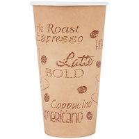 Choice 20 oz. Poly Paper Hot Cup with Cafe Design - 1000/Case