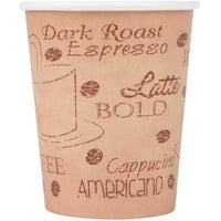 Choice 8 oz. Poly Paper Hot Cup with Cafe Design - 1000/Case