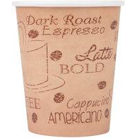 Choice 8 oz. Caf&#233&#x3b; Print Poly Paper Hot Cup - 1000/Case