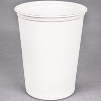 Choice 32 oz. White Microwavable Plastic Round Deli Container - 500/Case