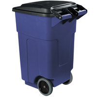 Carlisle 34505014 Bronco 50 Gallon Blue Rolling Container