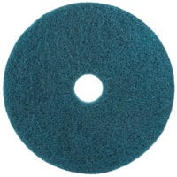 3M 5300 20 inch Blue Cleaning Pad - 5/Case
