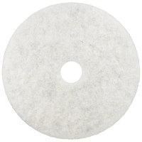 3M 3300 20 inch Natural Blend White Light Duty Burnishing Floor Pad - 5/Case
