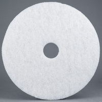 3M 4100 20 inch White Super Polishing Floor Pad - 5/Case