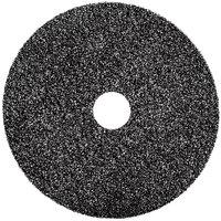 3M 7300 14 inch Black High Productivity Stripping Floor Pad - 5/Case