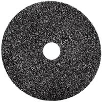 3M 7300 13 inch Black High Productivity Stripping Floor Pad - 5/Case