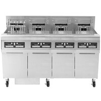 Frymaster FPRE614TC-SD High Efficiency Electric Floor Fryer with (6) 50 lb. Full Frypots and CM3.5 Controls - 14kW