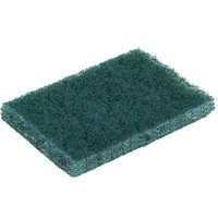 3M 9650 Scotch-Brite 4 1/2 inch x 3 inch General Purpose Green Scouring Pad - 40 / Pack