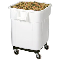 Choice 32 Gallon White Mobile Ingredient Storage Bin with Lid