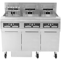 Frymaster FPRE322TC-SD High Efficiency Electric Floor Fryer with (3) 50 lb. Full Frypots and CM3.5 Controls - 22kW