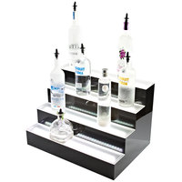 Beverage-Air LBD4-72L 72 inch Four-Tiered Liquor Display with Built-In LED Lighting - 18 inch Deep