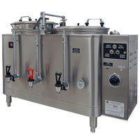Grindmaster 7443E Twin Midline 3 Gallon Fresh Water Coffee Urn - 120/208V