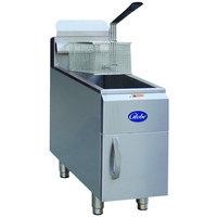 Globe GF15PG 15 lb. Liquid Propane Countertop Fryer - 26,500 BTU