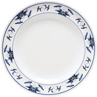GET M-417-B Water Lily 14 inch Melamine Plate - 12 / Pack