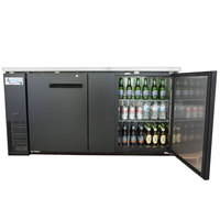 Avantco UBB-3 69 inch Solid Door Back Bar Cooler with Stainless Steel Top and LED Lighting