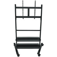 Luxor / H. Wilson WFP200-B Flat Panel TV Cart with 2 Shelves for 32 inch to 80 inch Screens