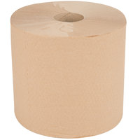 VonDrehle 8888K 1-Ply Preserve Brown Natural Kraft Center Pull Paper Towel 1000' Roll - 6 / Case
