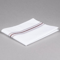 Marko 53771822NH515 Softweave Bistro 18 inch x 22 inch Chocolate Striped Napkin - 12/Pack