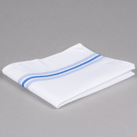 Marko 53771822NH062 Softweave Bistro 18 inch x 22 inch Blue Striped Napkin - 12/Pack