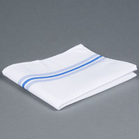Marko 53771822NH062 Softweave Bistro 18 inch x 22 inch Blue Striped Napkin - 12 / Pack