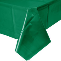 Creative Converting 01191B 54 inch x 108 inch Emerald Green Disposable Plastic Table Cover