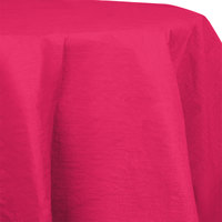 Creative Converting 923277 82 inch Hot Magenta Pink OctyRound Tissue / Poly Table Cover