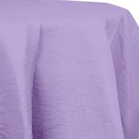 Creative Converting 923265 82 inch Luscious Lavender Purple OctyRound Tissue / Poly Table Cover