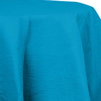 Creative Converting 923131 82 inch Turquoise Blue OctyRound Tissue / Poly Table Cover