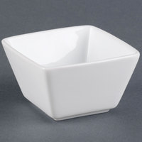 World Tableware SL-8 Slate 8 oz. Ultra Bright White Square Porcelain Bouillon Bowl - 36 / Case
