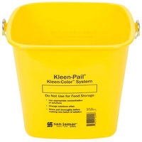 San Jamar KP196KCYL 6 Qt. Yellow Cleaning Kleen-Pail
