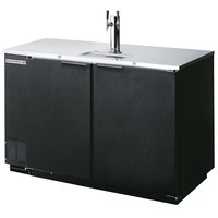 Beverage-Air DD50-1-B 50 inch Black Beer Dispenser - 2 Keg Kegerator