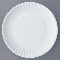 World Tableware CO-11 Cookout 8 1/4 inch Bright White Round Porcelain Plate - 24/Case