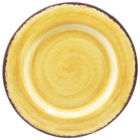 Carlisle 5400613 Mingle 12 1/2 inch Amber Round Melamine Charger Plate - 12/Case