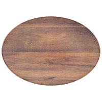 Carlisle EAG0469 Epicure Acacia 18 inch x 15 inch Woodgrain Oval Platter - 6 / Case