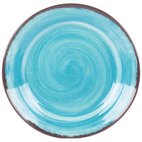Carlisle 5400615 Mingle 12 1/2 inch Aqua Round Melamine Charger Plate - 12/Case