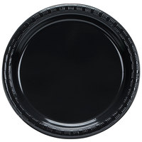 Creative Converting 28134011B 7 inch Black Velvet Plastic Lunch Plate - 50/Pack