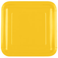 Creative Converting 463269 9 inch School Bus Yellow Square Paper Plate - 18 / Pack