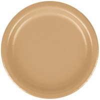 Creative Converting 79103B 7 inch Glittering Gold Paper Lunch Plate - 24 / Pack