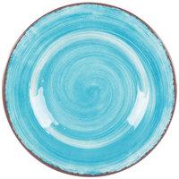 Carlisle 5400215 Mingle 9 inch Aqua Round Melamine Salad Plate - 12 / Case