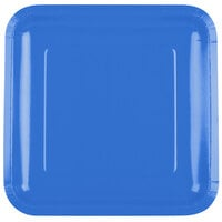 Creative Converting 463258 9 inch True Blue Square Paper Plate - 18 / Pack