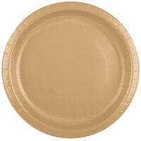 Creative Converting 50103B 10 inch Glittering Gold Paper Banquet Plate - 24 / Pack